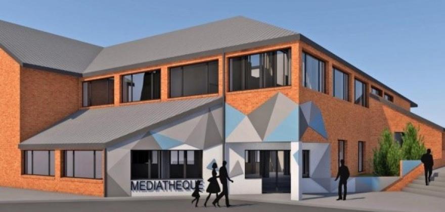 Projet nouvelle entrée médiathèque