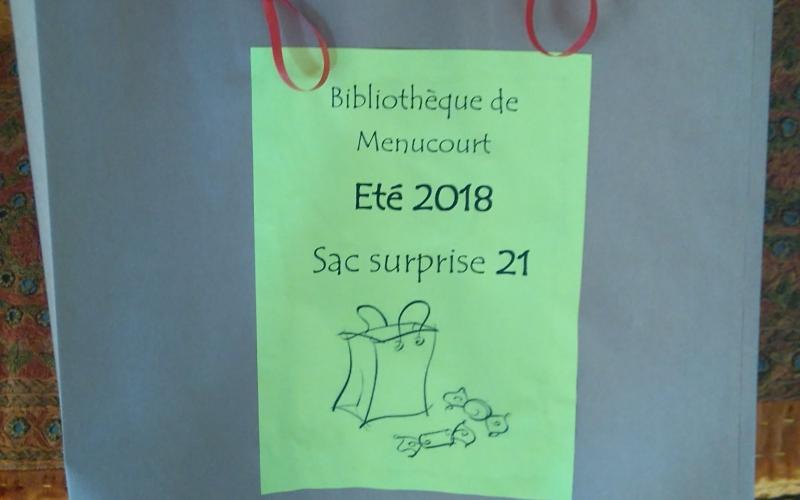 Les sacs surprises de la Bibliothèque de Menucourt