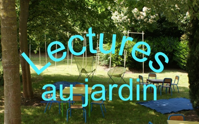 Lectures au jardin bibliothèqu de Vauréal