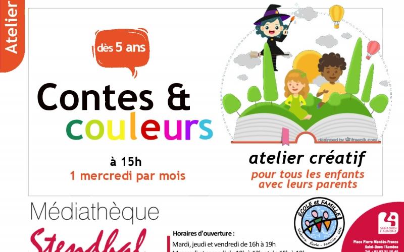 Contes et couleurs lectures et atelier créatif mercredi 19 juin 2019 à 15h