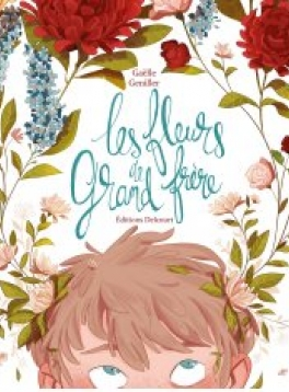 """Illustration de couverture de """"Les fleurs de grand frère""""©Delcourt"""