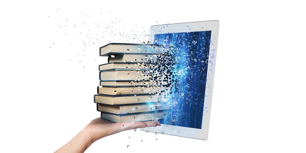 livre entrant dans une tablette