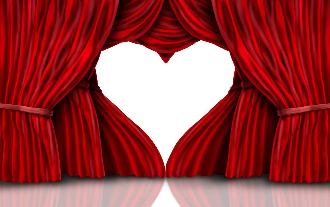 Rideau dont l'ouverture forme un coeur - tutoriel coup de coeur