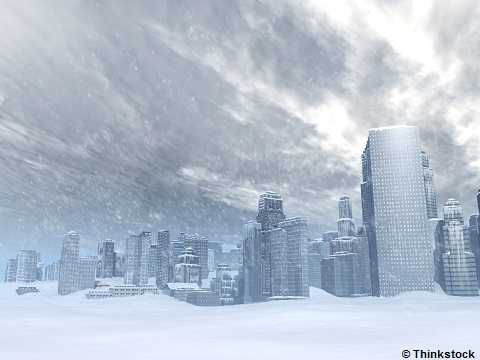 """Paysage d'une ville enneigée - playlist """"winter is coming"""" - bibliothèques de Cergy-Pontoise"""